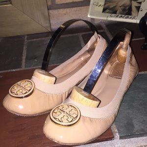 Tory Burch Ballet Shoes Tan Size 7
